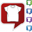 Wit Shirt pictogram — Stockvector  #64129105