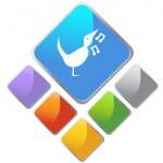 Singing Bird icon button — Stock Vector #64129181