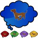 Running Dog web icon — Stock Vector #64129301