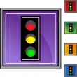 Traffic Light web button — Stock Vector #64129307
