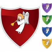 Angel web icon — Stockvektor