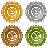 Speedometer web icon — Stock Vector