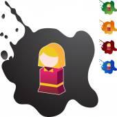 Child web icon — Stock Vector