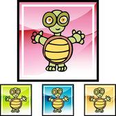 Schildkröte-Web-Taste — Stockvektor