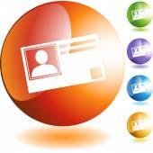 Identification Card web button — Stock Vector