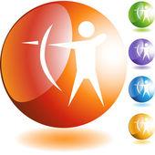 Archery Sport  web icon — Stockvektor