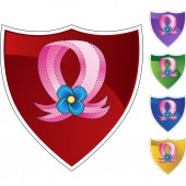 Pink Ribbon button — Stockvektor