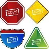 Copy web icon — Cтоковый вектор
