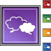 Sharing Thoughts icon set — Stock Vector