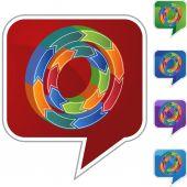 ビジネス グラフ] ボタン — ストックベクタ