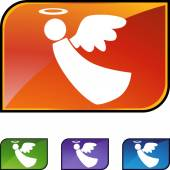 Angel web button — Stockvektor