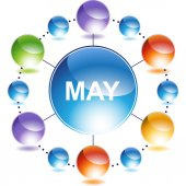 May web button — Stock Vector