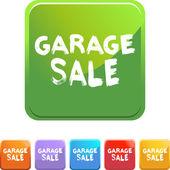 Garage Sale colorful icons — Cтоковый вектор