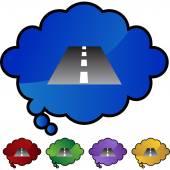 Road  web button — Stockvektor