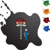 Car Repair and mechanic — Stock Vector