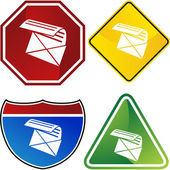 Email web button — Stockvector