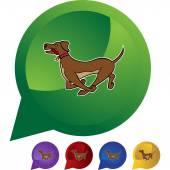 Running Dog web icon — Stock Vector