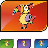Toucan web button — Stockvektor