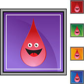 Red blood drop — Stock Vector