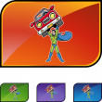 Superhero holds a car — Stock Vector #64131767