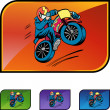 Motorcycle Stunt web icon — Stock Vector #64131883