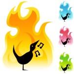 Singing Bird icon button — Stock Vector #64131965