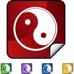 Yin Yang web icon — Stock Vector #64132359