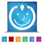 Idea Man Shiny Button Set — Stock Vector #64134219