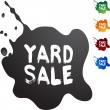 Yard Sale colorful icons — Stock Vector #64135387