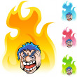 Angry Man web icon — 图库矢量图片 #64135819