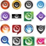 Compass web button — Stock Vector #64135829