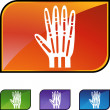 X-ray hand web button — Stock Vector #64135905