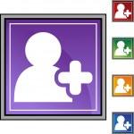 Add Friend web button — Stock Vector #64136955