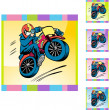 Motorcycle Stunt web icon — Stock Vector #64137111