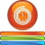 Clock web button — Stock Vector #64137511