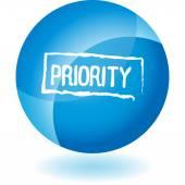 Priority web icon — Stock Vector