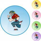 Icona del giocatore di gioco del calcio — Vettoriale Stock