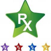 Prescription Symbol icon button — 图库矢量图片