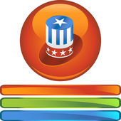 Uncle Sam Hat — Stock Vector