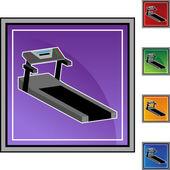 Treadmill web icon — Vetor de Stock