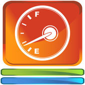 Fuel indicator web icon — Vettoriale Stock