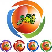 Vegetables icon button — Vettoriale Stock