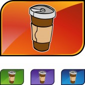 Disposable Coffee Cup — Stock Vector