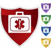 Medical Kit web icon — Stockvector