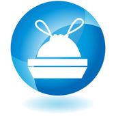 Trash Bag icon button — Stockvector