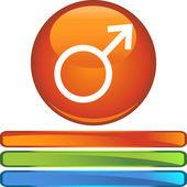 Mars web button — Stock Vector