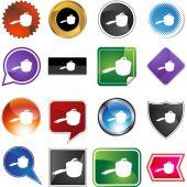 Saucepan web button — Stock Vector