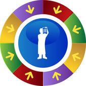 Surgeon x-ray web button — Stock Vector