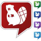 Beaver Icon set — ストックベクタ