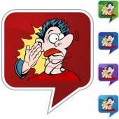 Slap on the face button — Stock Vector
